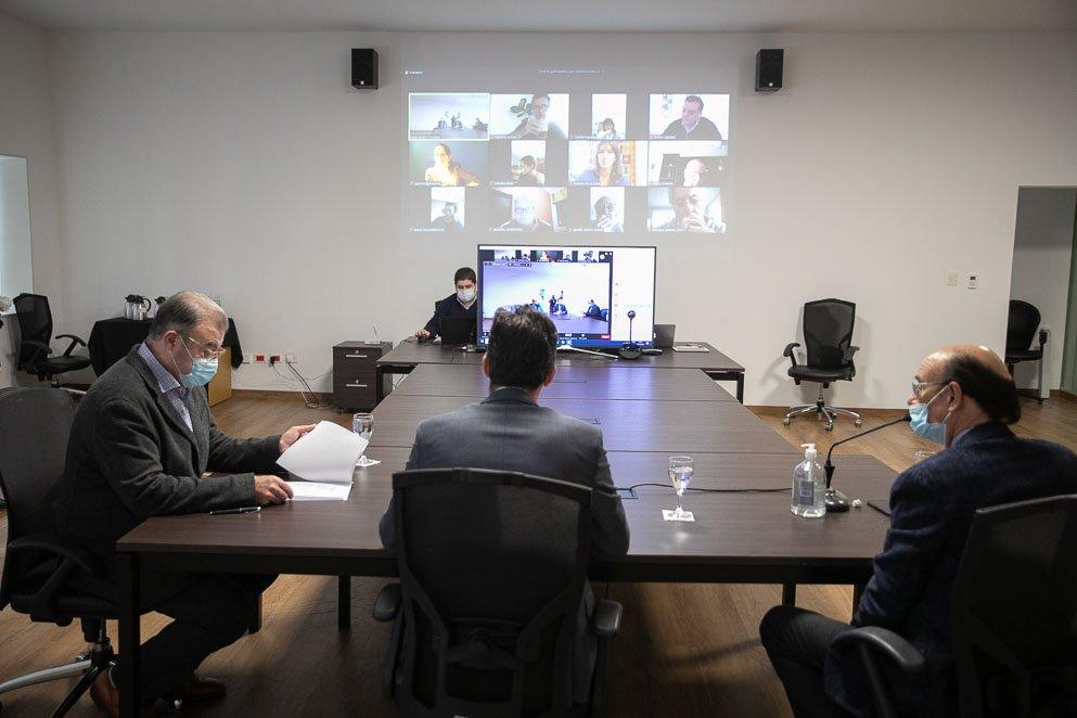 Sesión legislativa virtual