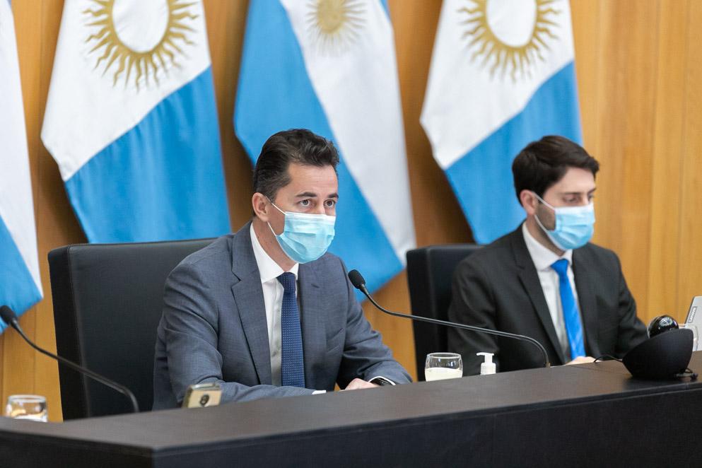 El vicegobernador Calvo en la 13° sesión virtual