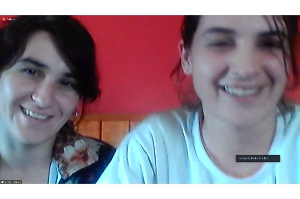 Melisa y Marianela Palmieri, jugadoras fútbol femenino