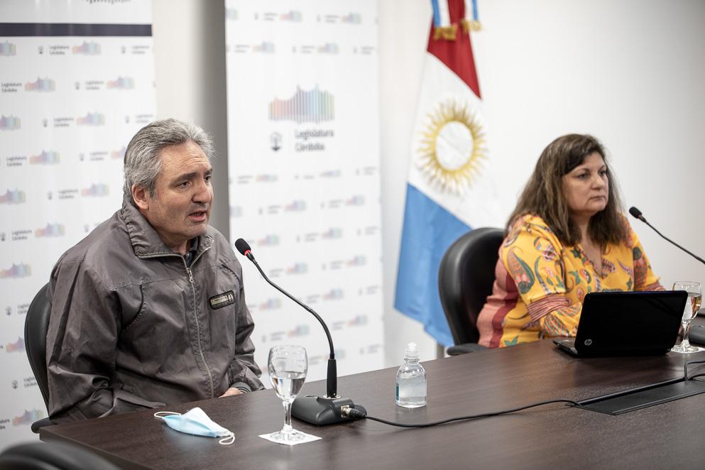 Antonio Franco y Ely Domínguez, funcionarios de la SeNAF