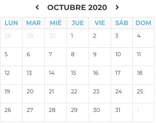 Agenda Octubre 2020