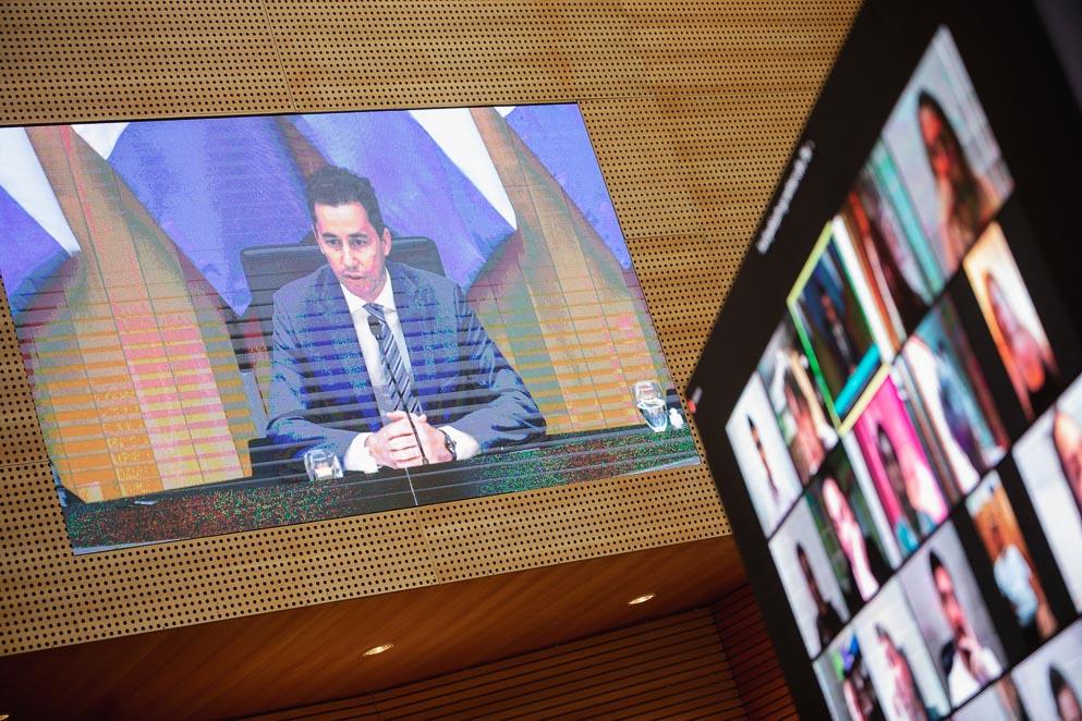 Manuel Calvo abrió el primer Foro de Poderes Legislativos