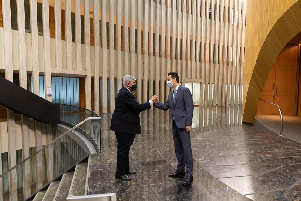 Manuel Calvo recibió al vicegobernador de Jujuy
