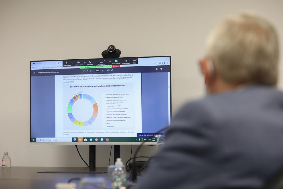 Scotto presentó el Diagnóstico Ambiental Provincial 2020