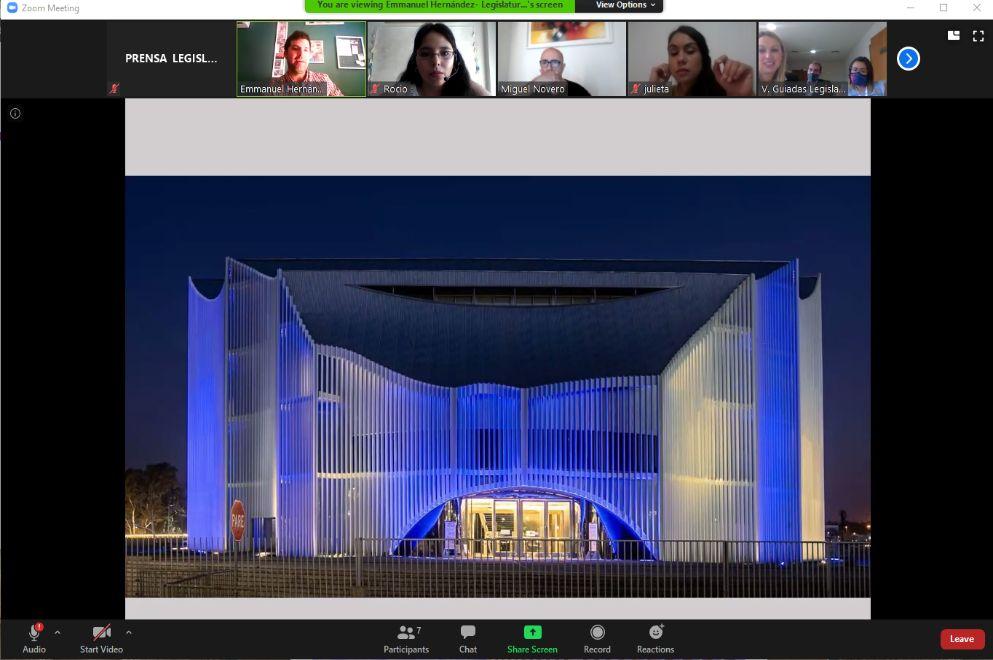 La Legislatura reinició su programa de visitas virtuales al edificio parlamentario