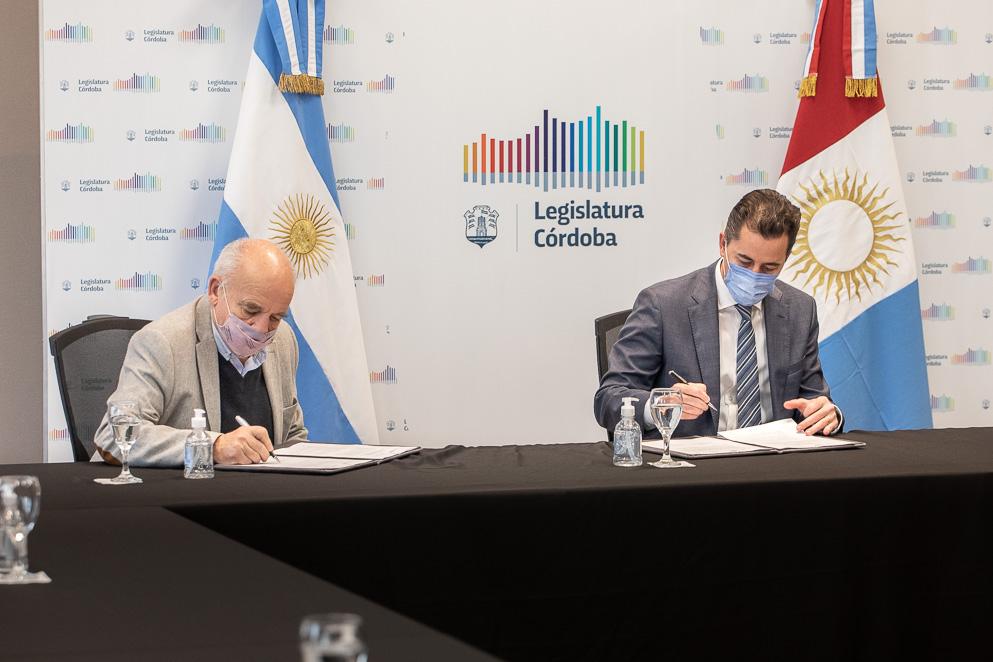 La Legislatura firmó convenio con la Asociación Argentina de Presupuesto y Administración Pública