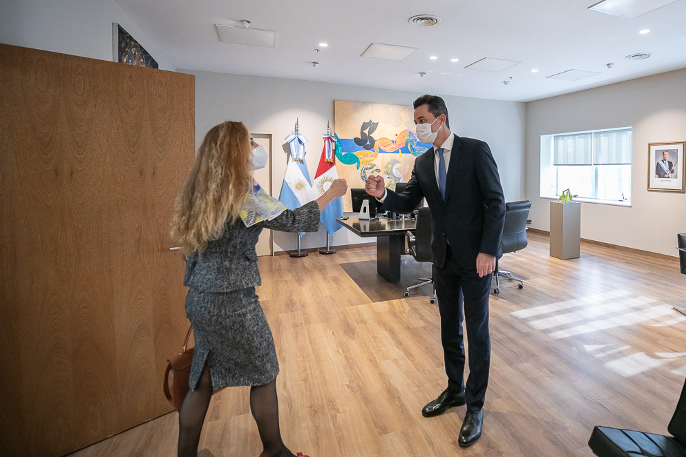 Calvo recibió a la nueva representante consular de Italia en Córdoba