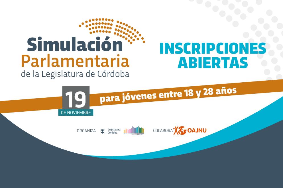 La Legislatura de Córdoba convoca a jóvenes a simular el funcionamiento de la Unicameral